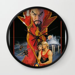 Vintage 80s Sci-Fi Movie Artwork For Prints, Posters, Tshirts, Bags, Men, Women, Kids Wall Clock