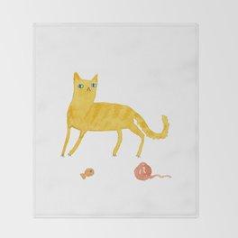 Nice Ginger Cat Throw Blanket