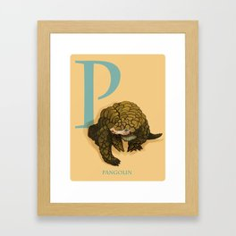 P is for Pangolin: Under Appreciated Animals™ ABC nursery decor orange unusual animals Framed Art Print