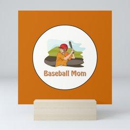 BASEBALL MOM Mini Art Print