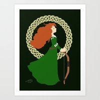 merida Art Prints featuring Merida  by Cantabile