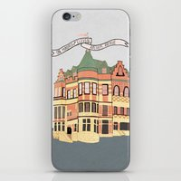 archer iPhone & iPod Skins featuring Archer Avenue by Nan Lawson