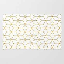 Gold + Geometric #society6 #decor #pattern Rug