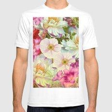 full of flowers White Mens Fitted Tee MEDIUM