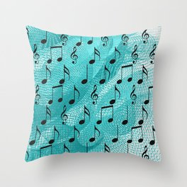 Music notes Throw Pillow
