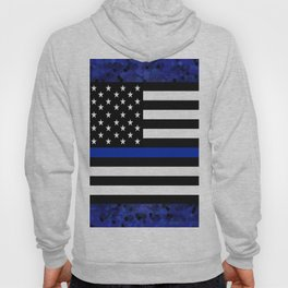 Blue Police Flag with Officers Hoody