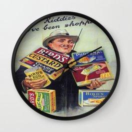 Vintage poster - Bird's Custard Wall Clock