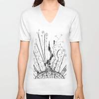 woods V-neck T-shirts featuring Woods by Andrew Mark Pickin