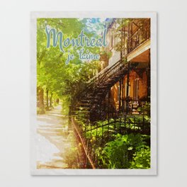 Montreal Je t'aime Canvas Print