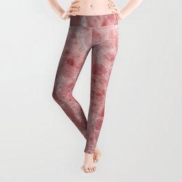 Juliette rosa deep pink marble Leggings