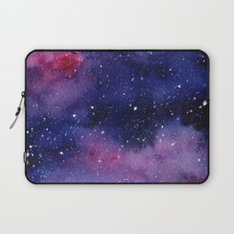 Watercolor Galaxy Nebula Pink Purple Sky Stars Laptop Sleeve