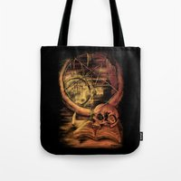 philosophy Tote Bags featuring Philosophy by Cycoblast Artwork