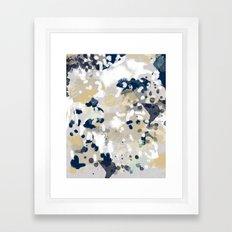 Nigel - Abstract art painting brushstrokes free spirt dorm college masculine feminine art print cali Framed Art Print
