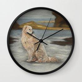 Oddball the maremma dog Wall Clock