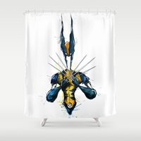 x men Shower Curtains featuring X-Men by Nicola Girello