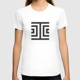 Black Greek Stripes T-shirt