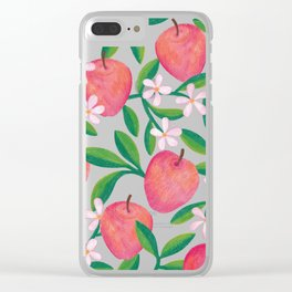 Apple Orchard Clear iPhone Case
