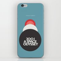 stanley kubrick iPhone & iPod Skins featuring 2001 a Space Odyssey - Stanley Kubrick Movie Poster by Stefanoreves
