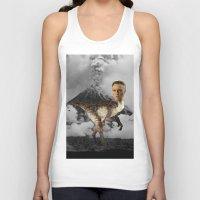 christopher walken Tank Tops featuring ChristopheRAPTOR Walken - Christopher Walken Velociraptor by Kalynn Burke