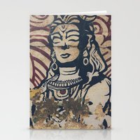 hindu Stationery Cards featuring Hindu mural by Rick Onorato