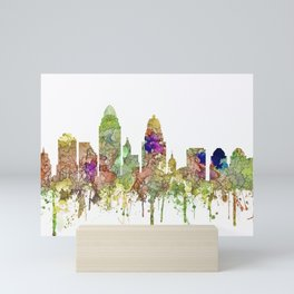 Cincinnati, Ohio Skyline SG - Faded Glory Mini Art Print