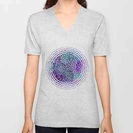 Floral Abstract 22 Unisex V-Neck