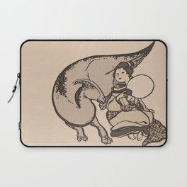 Geisha & Hadrosaure Laptop Sleeve
