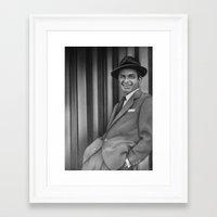 frank sinatra Framed Art Prints featuring Frank Sinatra by Richard Andrew