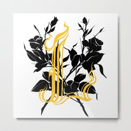 Locust tattoo roses Metal Print