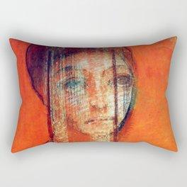 """Odilon Redon """"Veiled woman"""" Rectangular Pillow"""