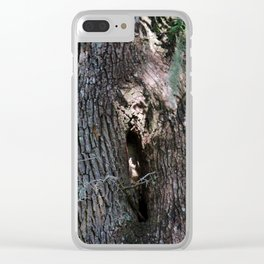 Ghost Face In Tree Clear iPhone Case