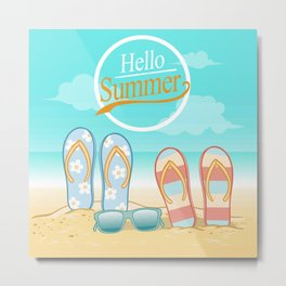 hello summer Metal Print