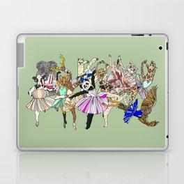 Animal Ballet Hipsters - Green Laptop & iPad Skin