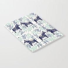 Swedish Dala Horse – Navy & Mint Palette Notebook