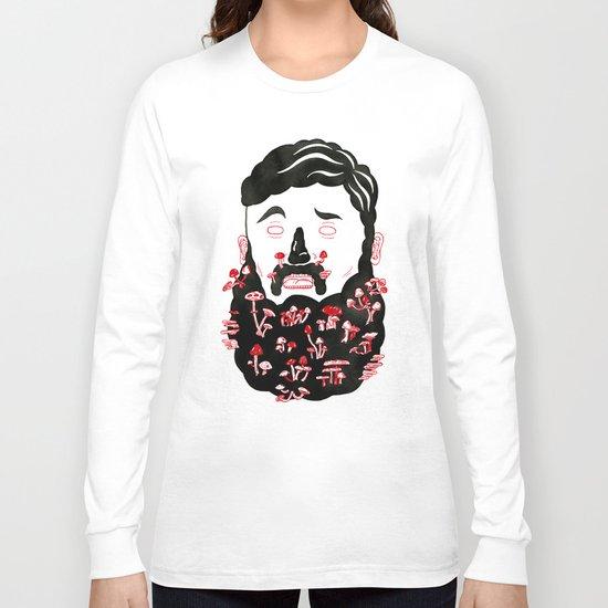 Mushroom Beard Dude Long Sleeve T-shirt