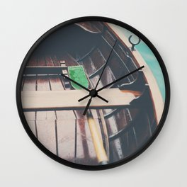 drifting on Lake Bled photograph Wall Clock