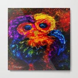 Baby Owl Metal Print