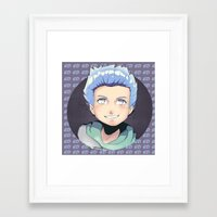 ed sheeran Framed Art Prints featuring ED by EY Cartoons