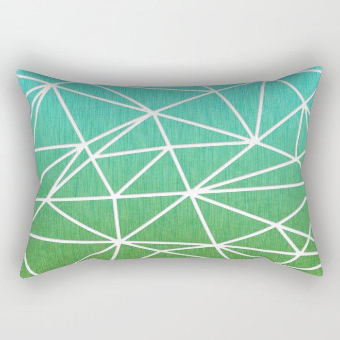 Abstract geometric | green & turquoise Rectangular Pillow