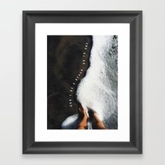 Don't Be a beach. Framed Art Print