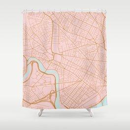 Cambridge map, Massachusetts Shower Curtain