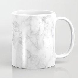 Marble White Grey Pattern Coffee Mug