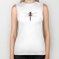 dragonfly Biker Tanks featuring Dragonfly by Wild Poetry