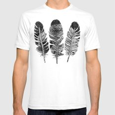 Feather Eagle White Mens Fitted Tee SMALL