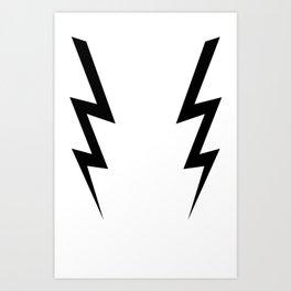 Boosh Lightning Art Print