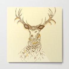 Tribal Deer Metal Print