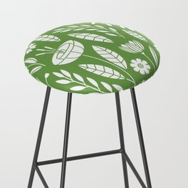 Blooming Field - green Bar Stool