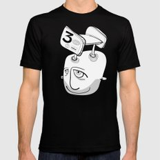 Will will LARGE Mens Fitted Tee Black