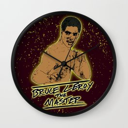 Bruce Leroy The Master Wall Clock