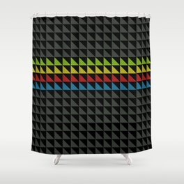 Four Tone Triangles Shower Curtain